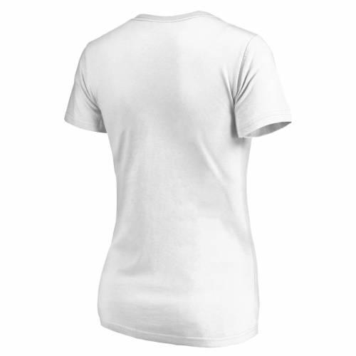 NFL PRO LINE BY FANATICS BRANDED シカゴ ベアーズ レディース ブイネック Tシャツ 白 ホワイト レディースファッション トップス カットソー 【 Chicago Bears Womens 100th Season V-neck T-shirt - White 】 Whit