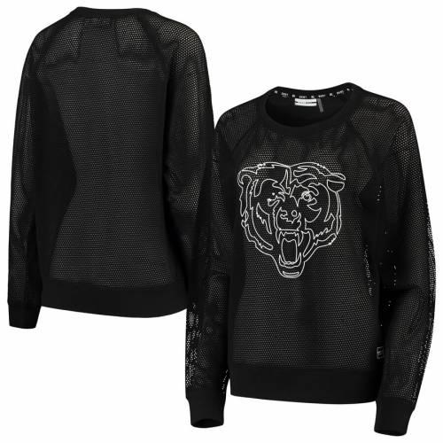 DKNY SPORT シカゴ ベアーズ レディース スリーブ Tシャツ 黒 ブラック レディースファッション トップス カットソー 【 Chicago Bears Womens Lauren Mesh Long Sleeve T-shirt - Black 】 Black