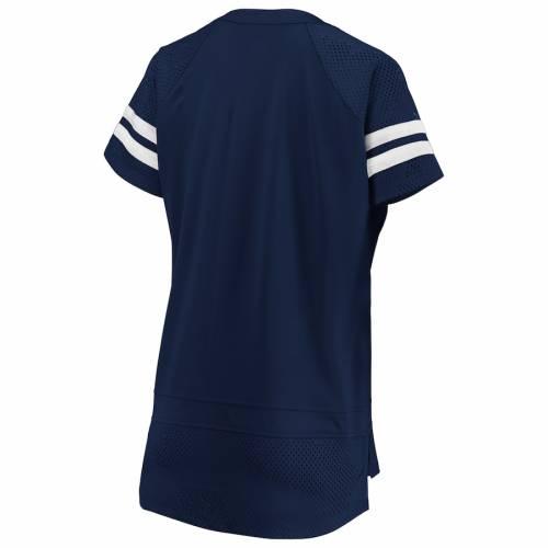 NFL PRO LINE BY FANATICS BRANDED ラムズ レディース Tシャツ レディースファッション トップス カットソー 【 Los Angeles Rams Fanatics Branded Womens Draft Me Lace Up T-shirt - Navy/white 】 Navy/white