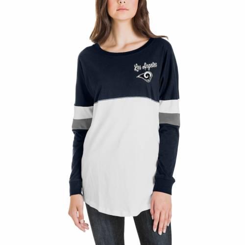 ニューエラ NEW ERA ラムズ レディース スリーブ Tシャツ レディースファッション トップス カットソー 【 Los Angeles Rams Womens Athletic Varsity Long Sleeve T-shirt - Navy/white 】 Navy/white