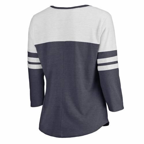 NFL PRO LINE BY FANATICS BRANDED シカゴ ベアーズ レディース コレクション スリーブ Tシャツ 紺 ネイビー レディースファッション トップス カットソー 【 Chicago Bears Womens Hometown Collection Color Bl