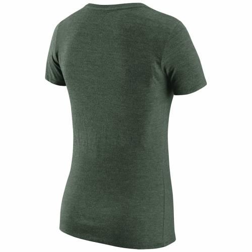 ナイキ NIKE オークランド レディース プラクティス ブイネック Tシャツ 緑 グリーン 1.7 レディースファッション トップス カットソー 【 Oakland Athletics Womens Practice 1.7 Tri-blend V-neck T-shirt -
