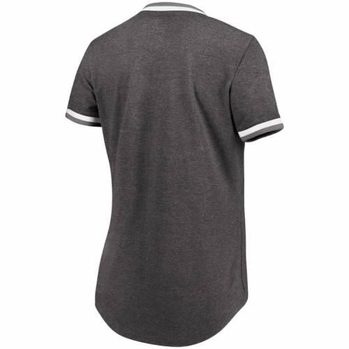 マジェスティック MAJESTIC オークランド レディース Tシャツ チャコール レディースファッション トップス カットソー 【 Oakland Athletics Womens Driven By Results T-shirt - Charcoal 】 Charcoal