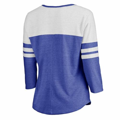 NFL PRO LINE BY FANATICS BRANDED ラムズ レディース コレクション スリーブ Tシャツ レディースファッション トップス カットソー 【 Los Angeles Rams Womens Hometown Collection Color Block 3/4 Sleeve Tri-blend T-