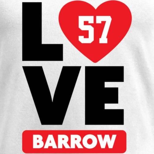 NFL PRO LINE BY FANATICS BRANDED レディース ブイネック Tシャツ 白 ホワイト レディースファッション トップス カットソー 【 Lamin Barrow Fanatics Branded Womens I Heart V-neck T-shirt - White 】 White