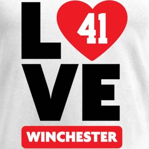 NFL PRO LINE BY FANATICS BRANDED ジェームズ レディース ブイネック Tシャツ 白 ホワイト レディースファッション トップス カットソー 【 James Winchester Fanatics Branded Womens I Heart V-neck T-shirt - White