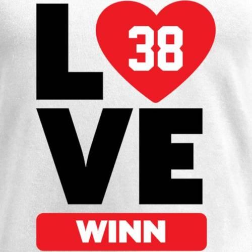 NFL PRO LINE BY FANATICS BRANDED レディース ブイネック Tシャツ 白 ホワイト レディースファッション トップス カットソー 【 George Winn Fanatics Branded Womens I Heart V-neck T-shirt - White 】 White
