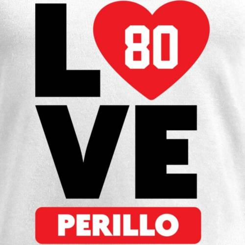 NFL PRO LINE BY FANATICS BRANDED レディース ブイネック Tシャツ 白 ホワイト レディースファッション トップス カットソー 【 Justin Perillo Fanatics Branded Womens I Heart V-neck T-shirt - White 】 White