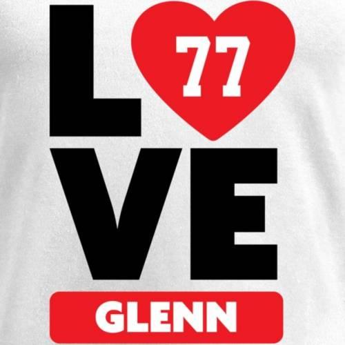 NFL PRO LINE BY FANATICS BRANDED レディース ブイネック Tシャツ 白 ホワイト レディースファッション トップス カットソー 【 Cordy Glenn Fanatics Branded Womens I Heart V-neck T-shirt - White 】 White