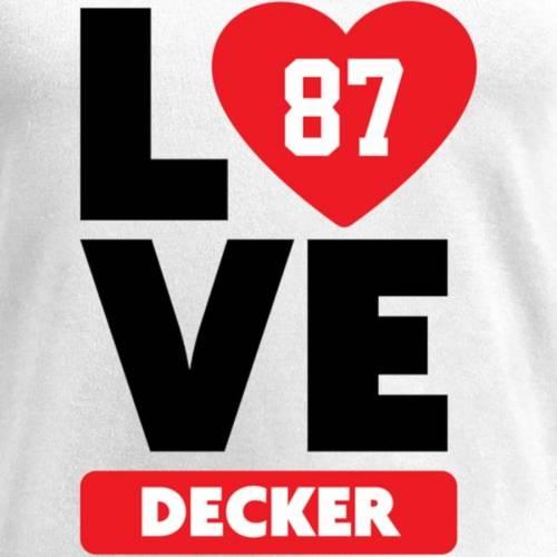 NFL PRO LINE BY FANATICS BRANDED レディース ブイネック Tシャツ 白 ホワイト レディースファッション トップス カットソー 【 Eric Decker Fanatics Branded Womens I Heart V-neck T-shirt - White 】 White