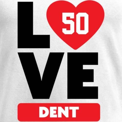 NFL PRO LINE BY FANATICS BRANDED レディース ブイネック Tシャツ 白 ホワイト レディースファッション トップス カットソー 【 Akeem Dent Fanatics Branded Womens I Heart V-neck T-shirt - White 】 White