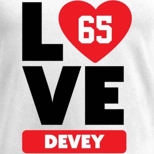 NFL PRO LINE BY FANATICS BRANDED レディース ブイネック Tシャツ 白 ホワイト レディースファッション トップス カットソー 【 Jordan Devey Fanatics Branded Womens I Heart V-neck T-shirt - White 】 White