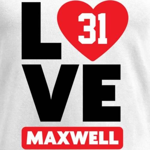 NFL PRO LINE BY FANATICS BRANDED レディース ブイネック Tシャツ 白 ホワイト レディースファッション トップス カットソー 【 Byron Maxwell Fanatics Branded Womens I Heart V-neck T-shirt - White 】 White