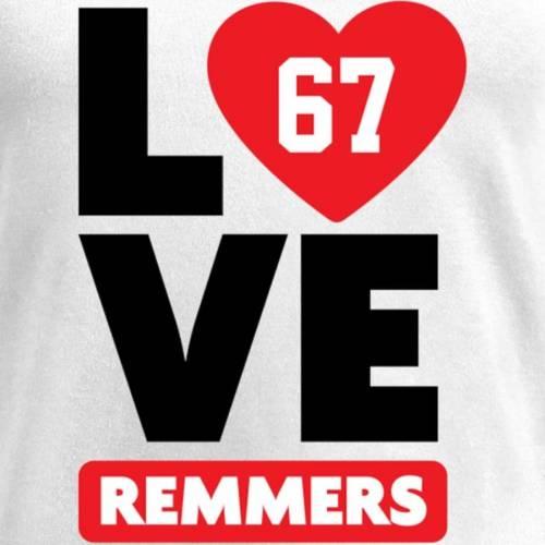NFL PRO LINE BY FANATICS BRANDED レディース ブイネック Tシャツ 白 ホワイト レディースファッション トップス カットソー 【 Mike Remmers Fanatics Branded Womens I Heart V-neck T-shirt - White 】 White