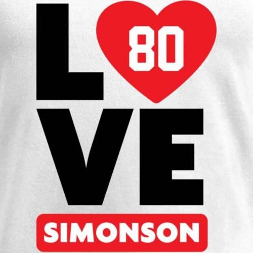 NFL PRO LINE BY FANATICS BRANDED レディース ブイネック Tシャツ 白 ホワイト レディースファッション トップス カットソー 【 Scott Simonson Fanatics Branded Womens I Heart V-neck T-shirt - White 】 White