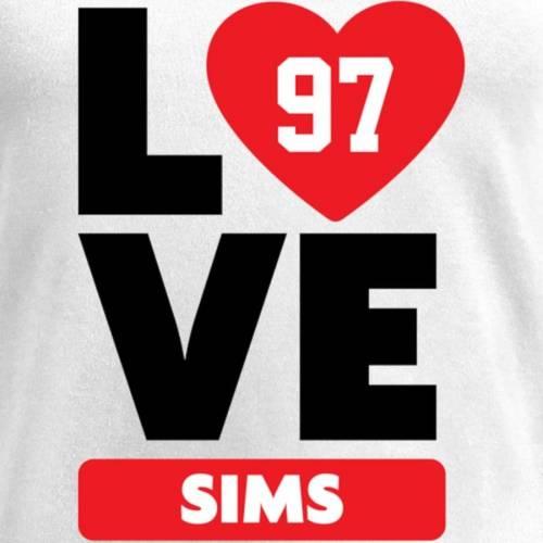 NFL PRO LINE BY FANATICS BRANDED レディース ブイネック Tシャツ 白 ホワイト レディースファッション トップス カットソー 【 Eugene Sims Fanatics Branded Womens I Heart V-neck T-shirt - White 】 White