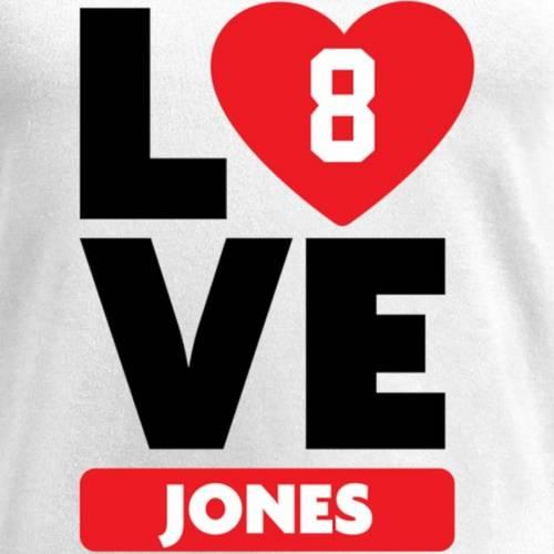 NFL PRO LINE BY FANATICS BRANDED レディース ブイネック Tシャツ 白 ホワイト レディースファッション トップス カットソー 【 Donald Jones Fanatics Branded Womens I Heart V-neck T-shirt - White 】 White