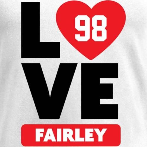 NFL PRO LINE BY FANATICS BRANDED レディース ブイネック Tシャツ 白 ホワイト レディースファッション トップス カットソー 【 Nick Fairley Fanatics Branded Womens I Heart V-neck T-shirt - White 】 White