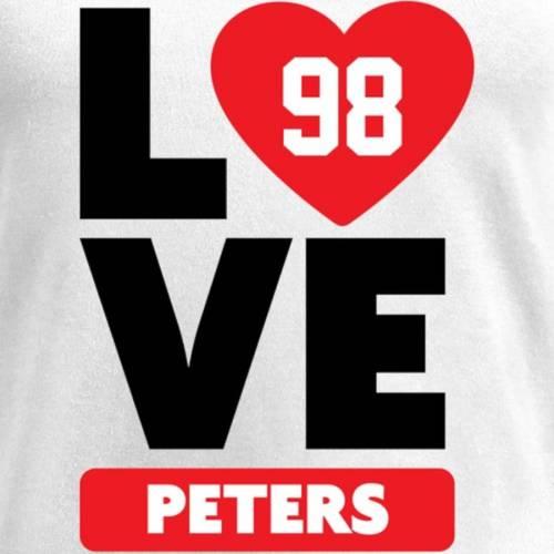 NFL PRO LINE BY FANATICS BRANDED レディース ブイネック Tシャツ 白 ホワイト レディースファッション トップス カットソー 【 Corey Peters Fanatics Branded Womens I Heart V-neck T-shirt - White 】 White
