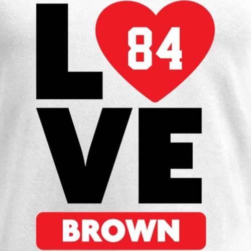 NFL PRO LINE BY FANATICS BRANDED 茶 ブラウン レディース ブイネック Tシャツ 白 ホワイト レディースファッション トップス カットソー 【 Antonio Brown Fanatics Branded Womens I Heart V-neck T-shirt - White 】