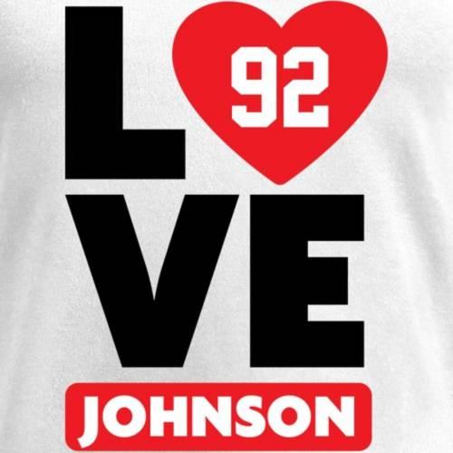 NFL PRO LINE BY FANATICS BRANDED ジョンソン レディース ブイネック Tシャツ 白 ホワイト レディースファッション トップス カットソー 【 Tom Johnson Fanatics Branded Womens I Heart V-neck T-shirt - White 】 Wh
