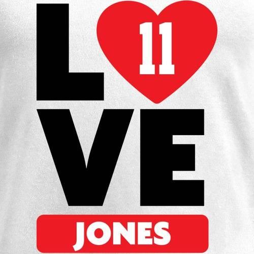 NFL PRO LINE BY FANATICS BRANDED レディース ブイネック Tシャツ 白 ホワイト レディースファッション トップス カットソー 【 Julio Jones Fanatics Branded Womens I Heart V-neck T-shirt - White 】 White