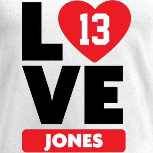 NFL PRO LINE BY FANATICS BRANDED レディース ブイネック Tシャツ 白 ホワイト レディースファッション トップス カットソー 【 Tj Jones Fanatics Branded Womens I Heart V-neck T-shirt - White 】 White