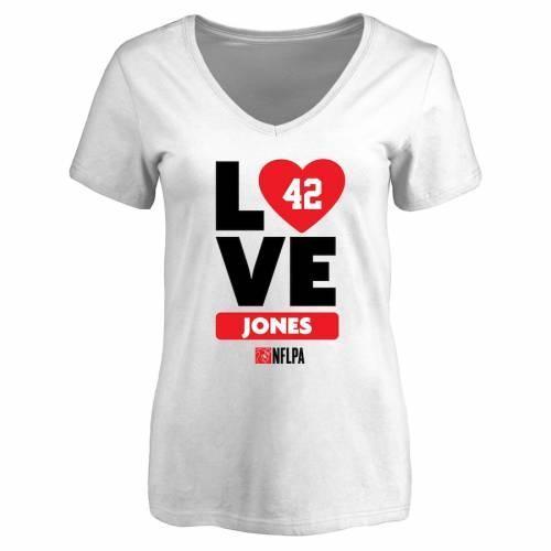 NFL PRO LINE BY FANATICS BRANDED レディース ブイネック Tシャツ 白 ホワイト レディースファッション トップス カットソー 【 Colin Jones Fanatics Branded Womens I Heart V-neck T-shirt - White 】 White