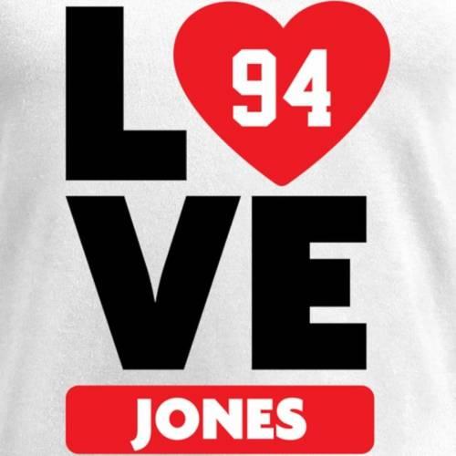 NFL PRO LINE BY FANATICS BRANDED クリス レディース ブイネック Tシャツ 白 ホワイト レディースファッション トップス カットソー 【 Chris Jones Fanatics Branded Womens I Heart V-neck T-shirt - White 】 White