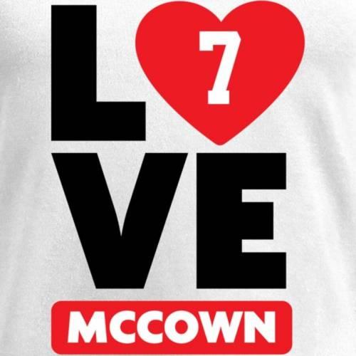 NFL PRO LINE BY FANATICS BRANDED レディース ブイネック Tシャツ 白 ホワイト レディースファッション トップス カットソー 【 Luke Mccown Fanatics Branded Womens I Heart V-neck T-shirt - White 】 White