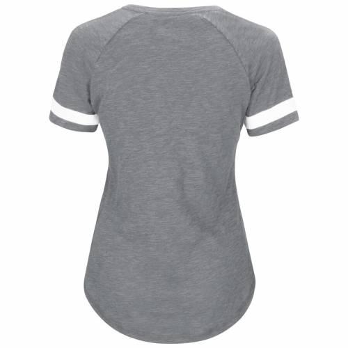 マジェスティック MAJESTIC ボルティモア オリオールズ レディース ラグラン Tシャツ 灰色 グレー グレイ レディースファッション トップス カットソー 【 Baltimore Orioles Womens Riveting Raglan T