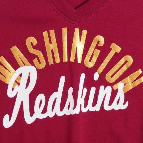 TOUCH BY ALYSSA MILANO ワシントン レッドスキンズ レディース ラグラン ブイネック Tシャツ レディースファッション トップス カットソー 【 Washington Redskins Womens Reflex 3/4-sleeve Raglan V-neck T-shi