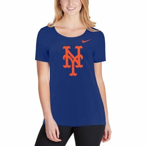 ナイキ NIKE メッツ レディース ロゴ Tシャツ レディースファッション トップス カットソー 【 New York Mets Womens Logo Scoop Neck T-shirt - Royal 】 Royal