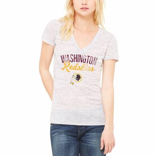 LET LOOSE BY RNL ワシントン レッドスキンズ レディース ブイネック Tシャツ 白 ホワイト レディースファッション トップス カットソー 【 Washington Redskins Womens Endless V-neck T-shirt - White 】 Whit