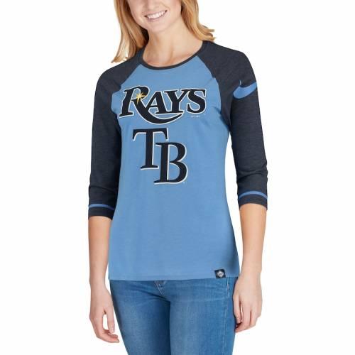 ナイキ NIKE レイズ レディース ラグラン Tシャツ 青 ブルー レディースファッション トップス カットソー 【 Tampa Bay Rays Womens Tri-blend 3/4-sleeve Raglan T-shirt - Light Blue 】 Light Blue