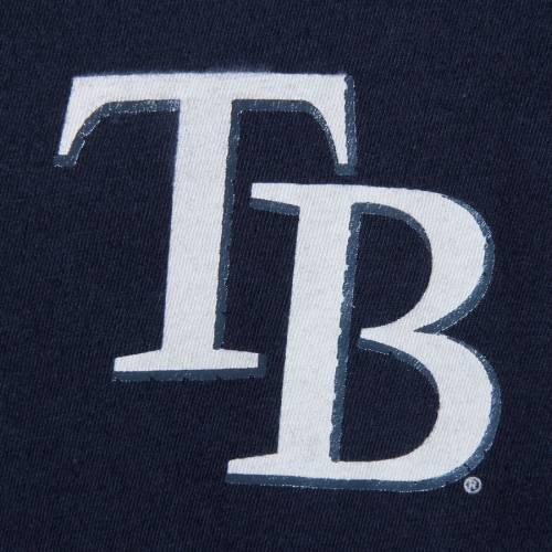 マジェスティック MAJESTIC レイズ レディース スリーブ Tシャツ 青 ブルー レディースファッション トップス カットソー 【 Tampa Bay Rays Womens Above Average Three-quarter Sleeve V-notch T-shirt - Navy/lig