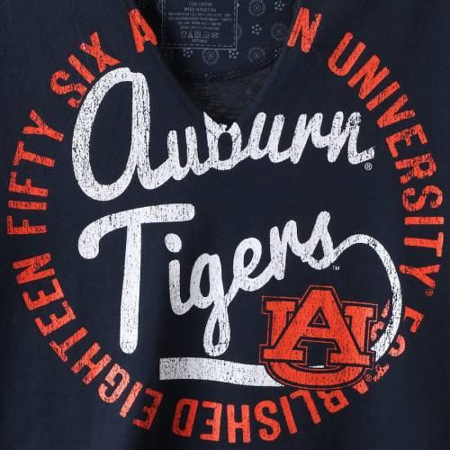 PRESSBOX タイガース レディース Tシャツ 紺 ネイビー レディースファッション トップス カットソー 【 Auburn Tigers Womens Saylor Choker T-shirt - Navy 】 Navy