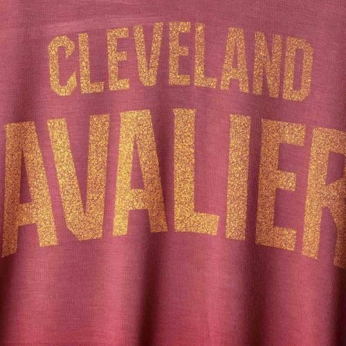 ニューエラ NEW ERA クリーブランド キャバリアーズ レディース ジャージ ブイネック Tシャツ レディースファッション トップス カットソー 【 Cleveland Cavaliers Womens Jersey Dip-dye V-neck T-shirt