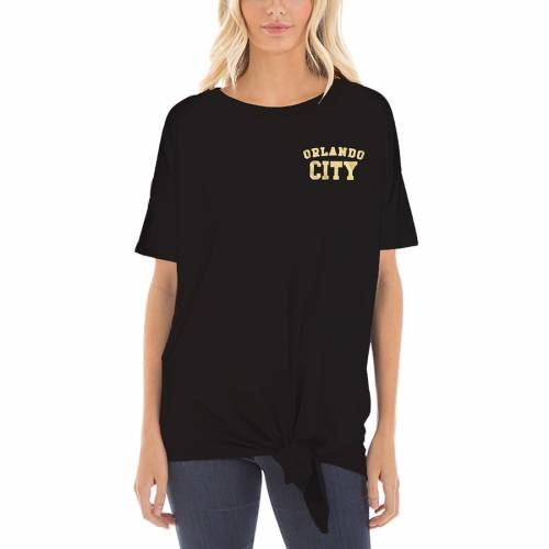 5TH & OCEAN BY NEW ERA オーランド シティ レディース Tシャツ 黒 ブラック レディースファッション トップス カットソー 【 Orlando City Sc 5th And Ocean By New Era Womens Slub T-shirt - Black 】 Black