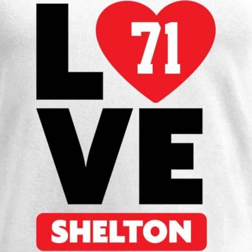 NFL PRO LINE BY FANATICS BRANDED レディース ブイネック Tシャツ 白 ホワイト レディースファッション トップス カットソー 【 Danny Shelton Fanatics Branded Womens I Heart V-neck T-shirt - White 】 White