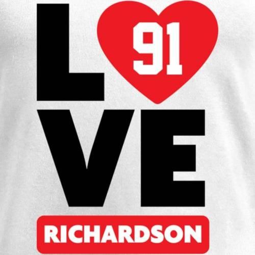 NFL PRO LINE BY FANATICS BRANDED レディース ブイネック Tシャツ 白 ホワイト レディースファッション トップス カットソー 【 Sheldon Richardson Fanatics Branded Womens I Heart V-neck T-shirt - White 】 White