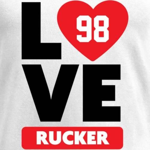 NFL PRO LINE BY FANATICS BRANDED レディース ブイネック Tシャツ 白 ホワイト レディースファッション トップス カットソー 【 Frostee Rucker Fanatics Branded Womens I Heart V-neck T-shirt - White 】 White