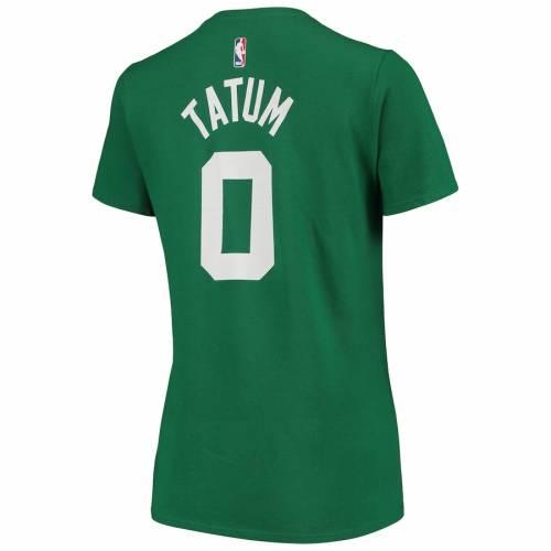 ナイキ NIKE ボストン セルティックス レディース パフォーマンス Tシャツ 緑 グリーン レディースファッション トップス カットソー 【 Jayson Tatum Boston Celtics Womens 2019/20 Name And Number Perfor