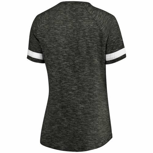 NFL PRO LINE BY FANATICS BRANDED ボルティモア レイブンズ レディース Tシャツ チャコール レディースファッション トップス カットソー 【 Baltimore Ravens Womens Showtime Go For Two Notch Neck Slub T-shirt -
