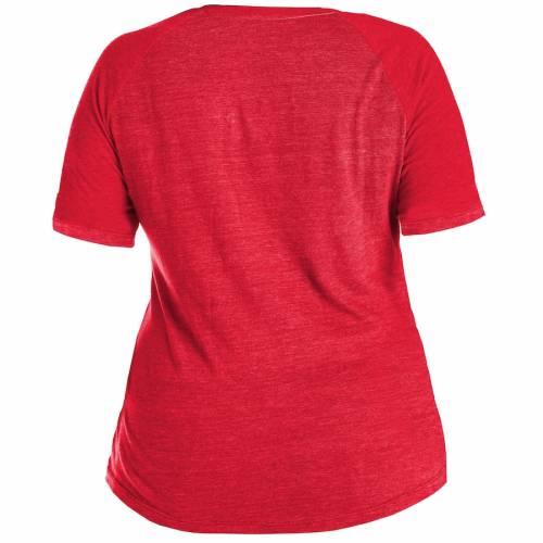 ニューエラ NEW ERA ワシントン ナショナルズ レディース シリーズ ブイネック Tシャツ 赤 レッド レディースファッション トップス カットソー 【 Washington Nationals Womens 2019 World Series Champi