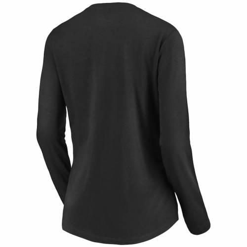 NFL PRO LINE BY FANATICS BRANDED セインツ レディース チーム スリーブ ブイネック Tシャツ 黒 ブラック レディースファッション トップス カットソー 【 New Orleans Saints Womens Team Slogan Long Sleeve V-