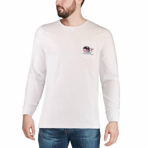 VINEYARD VINES プロビデンス スリーブ Tシャツ 白 ホワイト メンズファッション トップス カットソー メンズ 【 Providence Friars Pocket Long Sleeve T-shirt - White 】 White