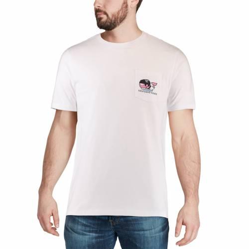 VINEYARD VINES プロビデンス Tシャツ 白 ホワイト メンズファッション トップス カットソー メンズ 【 Providence Friars Pocket T-shirt - White 】 White