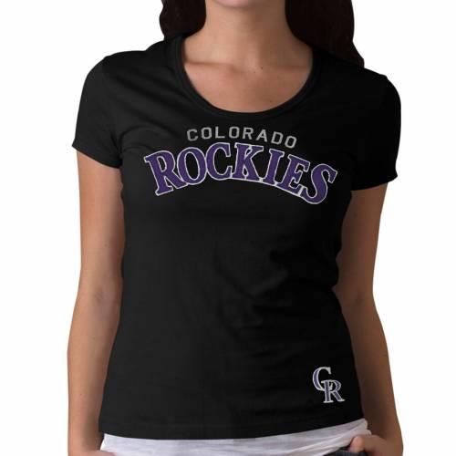 '47 コロラド ロッキーズ レディース チーム Tシャツ 黒 ブラック レディースファッション トップス カットソー 【 Colorado Rockies Womens Fieldhouse Team Name T-shirt - Black 】 Black
