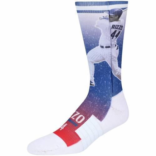 STRIDELINE アンソニー シカゴ カブス ソックス 靴下 インナー 下着 ナイトウエア メンズ 下 レッグ 【 Anthony Rizzo Chicago Cubs Full Sublimated Player Crew Socks - Royal 】 Royal